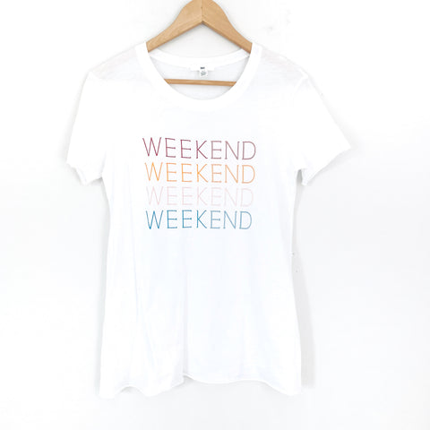 "BP Colorful ""Weekend"" Tee- Size XS"