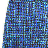 J Crew Blue Tweed Skirt- Size S
