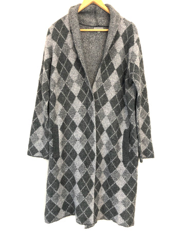 Joseph A Argyle Long Cardigan with Pockets- Size S