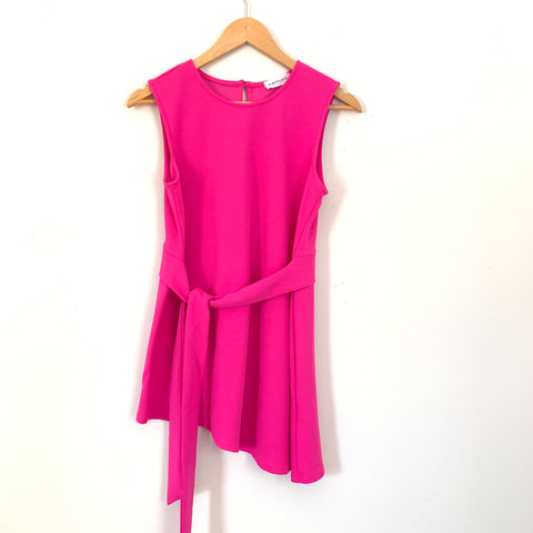 First Love Bright Pink Tie Blouse- Size S