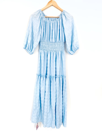Chicwish Light Blue Tiered Off the Shoulder Dress- Size ~S