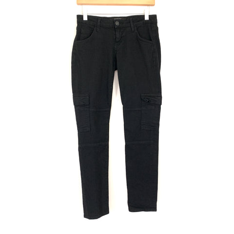"Hudson Black Cargo Style Jeans- Size 25 (Inseam 28.5"")"