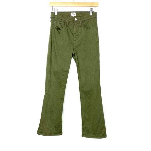 "J Crew Olive Green 9"" Billie Demi Boot Crop- Size 24 (Inseam 24"")"