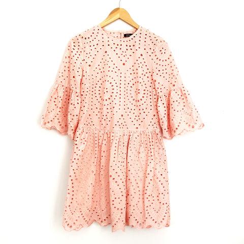 Simplee Pink Eyelet Dress NWT- Size S (see notes)