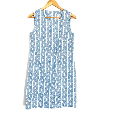 Persifor Blue Rope Pattern Dress- Size S
