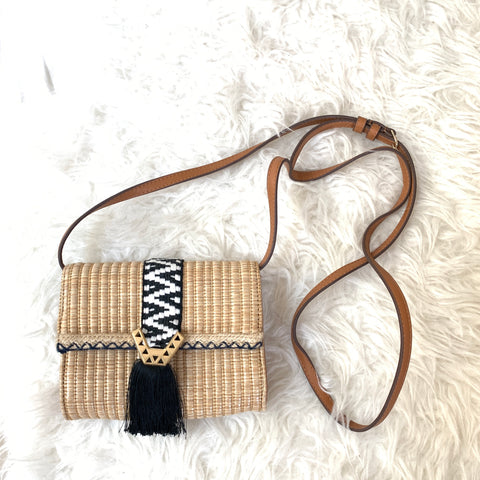 Stella & Dot Sidekick Straw with Fringe