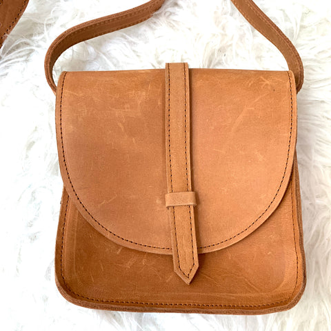 ABLE Cognac Mini Crossbody