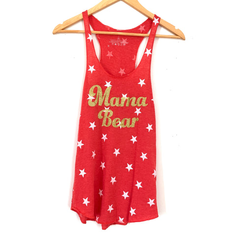 Loved by Hannah and Eli Red Star Mama Bear Tank- Size XS
