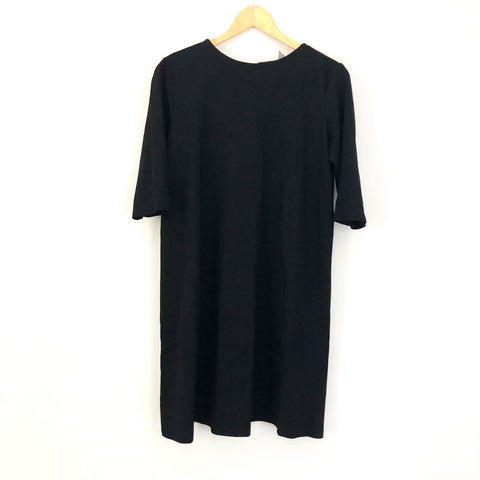 ASOS Black 3 Quarter Sleeve Dress- Size 6