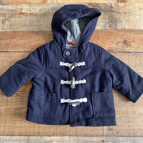 Baby Gap Navy Wool Blend Rope Closure Coat- Size 6-12 M