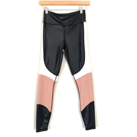 "Alala Color Block Black, Pink, and White Leggings- Size XS (Inseam 25"")"