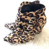 Goodnight Macaroon Leopard Buckle Booties- Size 38