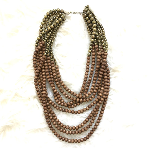 No Brand Wood Beaded Necklace
