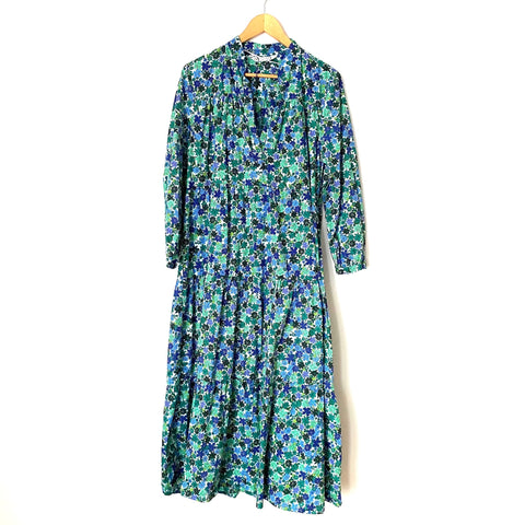 Zara Tiered Floral 3/4 Sleeve Dress- Size L