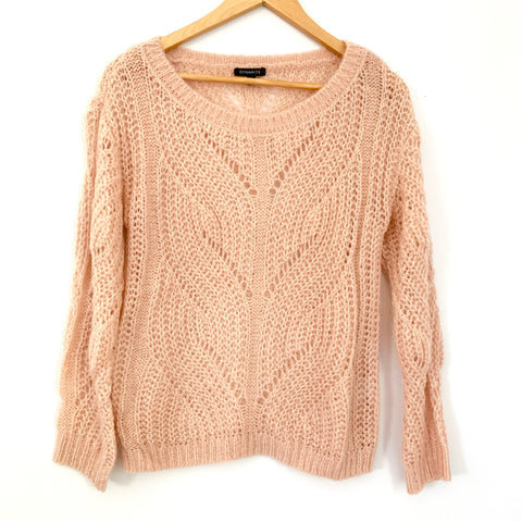 Dynamite Blush Open Knit Sweater- Size XS
