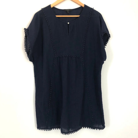 J. Crew Tunic Cotton Lace Trim- Size S