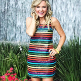 WAYF Colorful Sequins Dress- Size XS