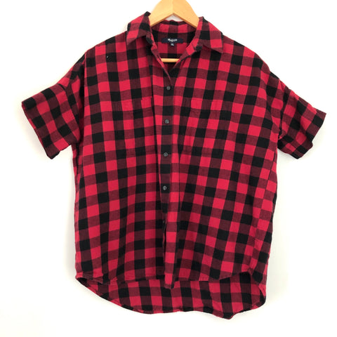 Madewell Buffalo Plaid Button Up Shirt - Size XS