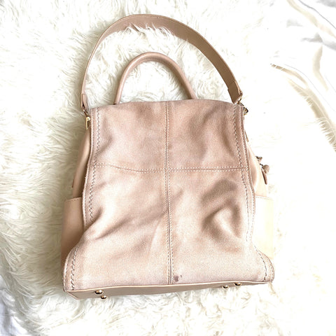 Moda Luxe Blush Suede Handbag (Jana, see notes)