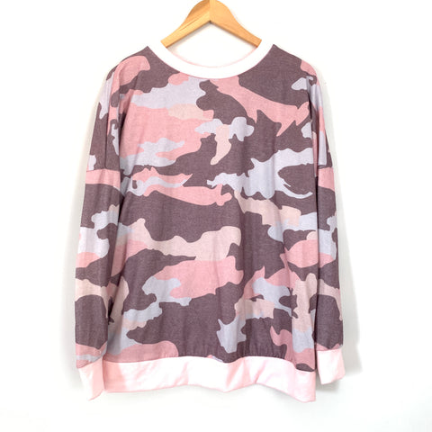 And The Why Pink Camo Sweatshirt- Size M