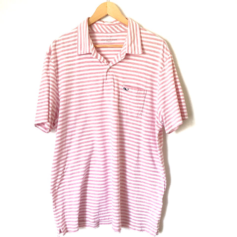 Vineyard Vines Classic Fit Striped Polo- Size L