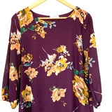 Everly Wine Floral Dress- Size S