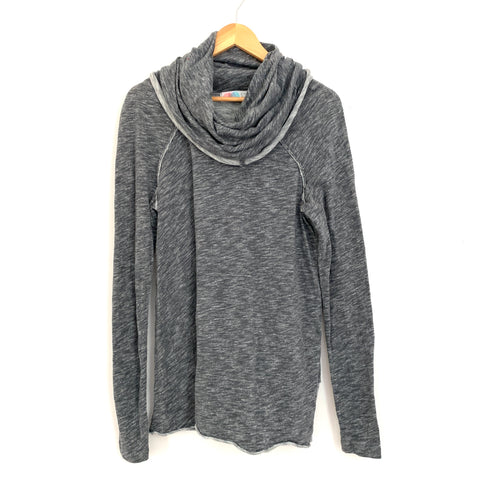 Free People Beach Grey Turtleneck Tunic Sweater- Size S
