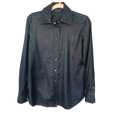 LAFAYETTE 148 Denim Wool Blend Button Up- Size S