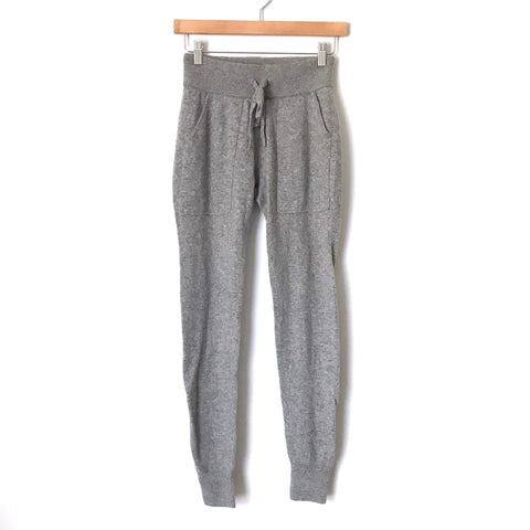White + Warren Essential Grey 100% Cashmere Joggers- Size XS (we have matching sweater, sold as separates) Inseam 28""