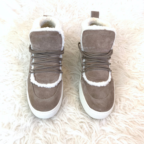 Marc Fisher Ltd. Grey Suede Shearling Sneaker Bootie (BRAND NEW)- Size 7