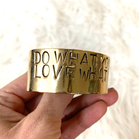 "Alisa Michelle Gold ""Do What You Love Love What You Do"" ~1"" Bangle"
