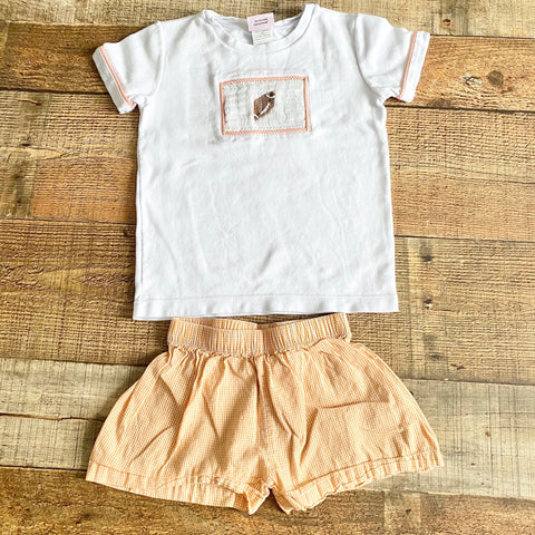 Lullaby Set Orange Gingham Shorts- Size 24 M (BOTTOMS ONLY)