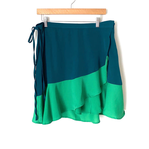 Summersalt Teal and Green Wrap Skirt- Size L (we have matching bathing suit)