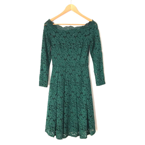 Missmay Green Lace Scalloped Neck Dress- Size XS (see notes)