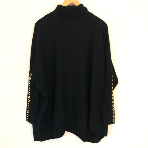 Joseph A Turtleneck Poncho Sweater-Size S