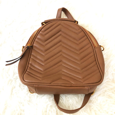 No Brand Brown Faux Leather Mini Backpack