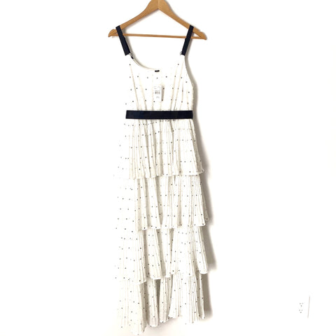 A Pea In The Pod White Maternity Polka Dot Ruffled Dress NWT- Size S