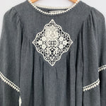 Zara Basic Embroidered Blouse NWT- Size S
