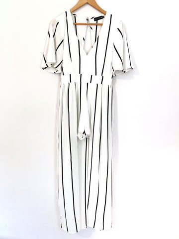 Crystal Doll Striped Maxi Romper- Size 3