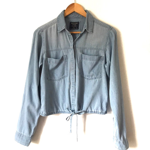 Abercrombie & Fitch Chambray Button Up Drawstring Waist NWT- Size XS