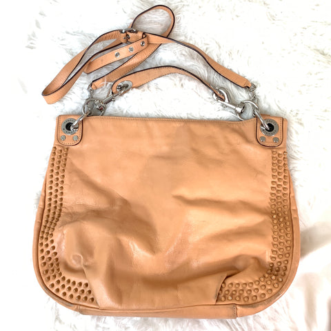 Rebecca Minkoff Light Tan Hobo Bag with Studs (bag has scuffs and signs of wear)
