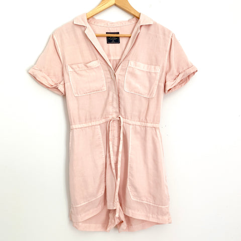 Abercrombie & Fitch Light Pink Button Up Cargo Romper NWT- Size XS