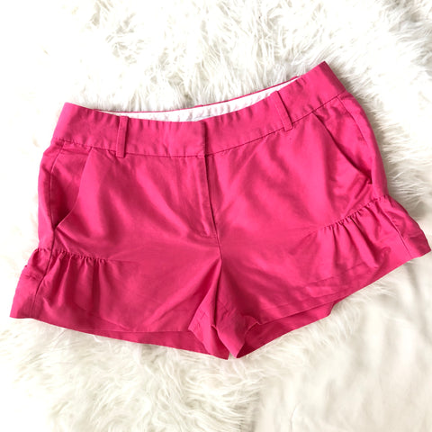 J. Crew Pink Shorts with Ruched Sides - Size 2