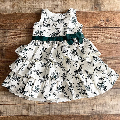 Janie & Jack Green Floral Belted Dress NWT- Size 2T