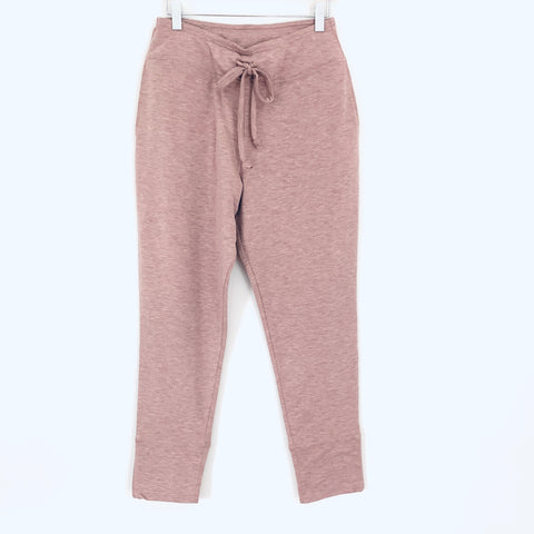Bobeau Heathered Pink Tie Front Jogger Pants NWT- Size XS