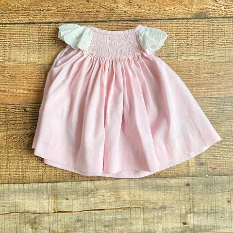 Classic Whimsy Pink Smocked Dress- Size 3M
