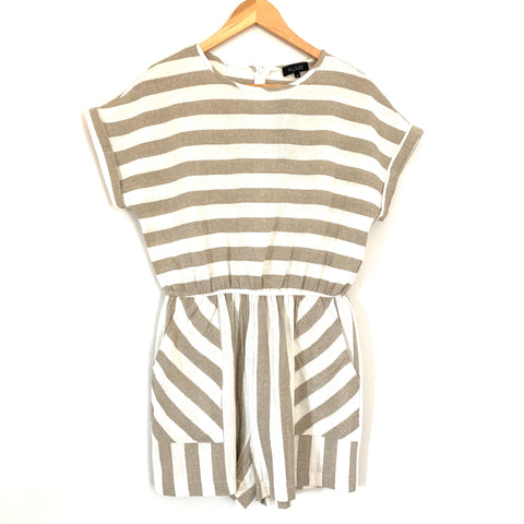 Roolee Striped Linen-like Romper NWT- Size M