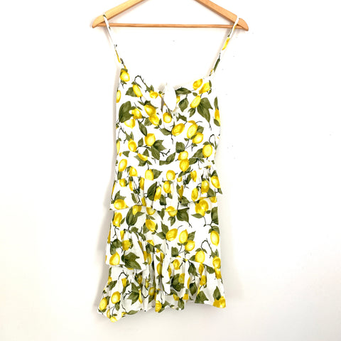 Skylar + Madison Lemon Print Tie Front Dress NWT- Size M