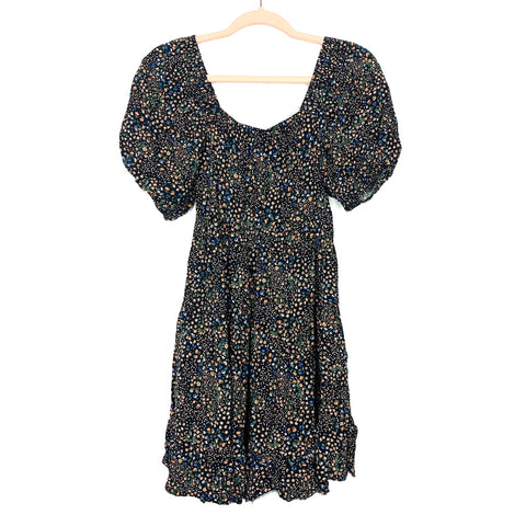 Wild Fable Black Floral Print Dress- Size S