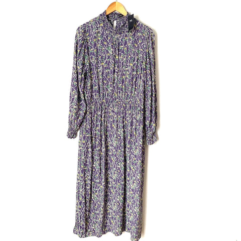M&S Collection Purple Floral Maxi Dress NWT- Size 14 (UK 18)